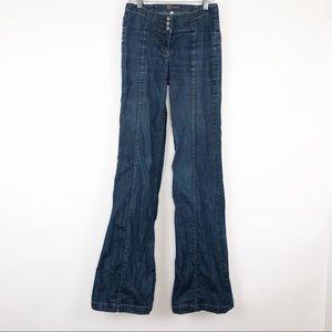 Bebe   26   Long Hi Waist Wide Leg Trouser Jeans